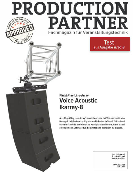 Voice Acoustic Line-Array Ikarray-8 in test