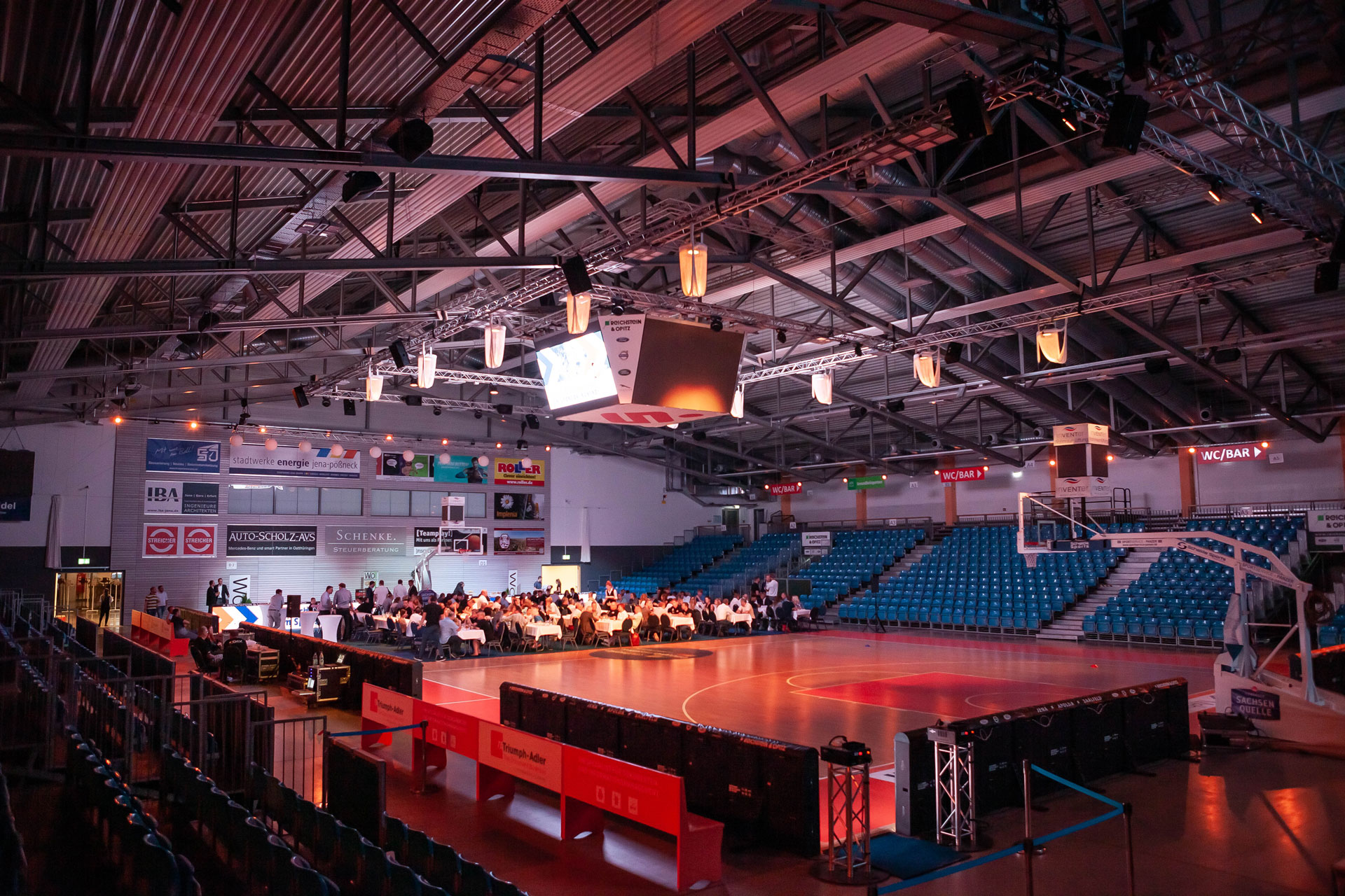 Voice-Acoustic installed in the Sparkassen-Arena Jena
