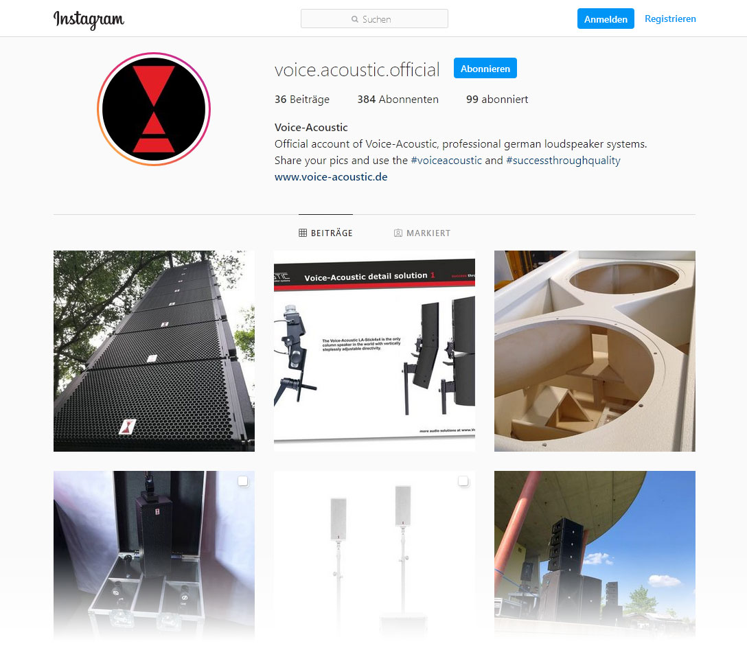 Voice-Acoustic Instagram channel just started